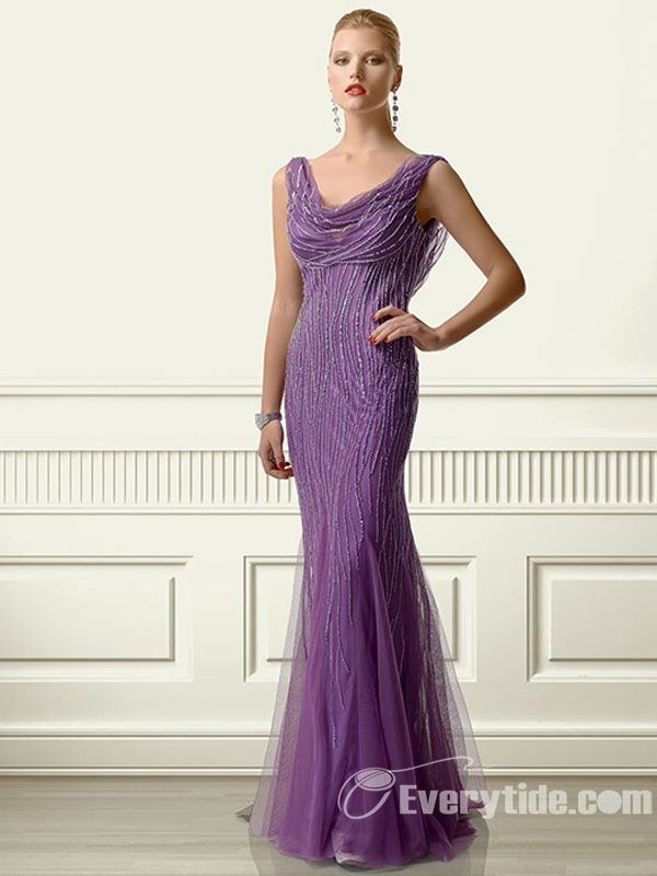 149 99 Free Shipping Everytide Long Purple Organza Mother Of The Bride Dress