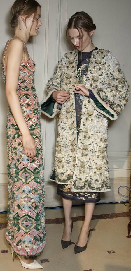 Backstage at Valentino Haute Couture Autumn 2013