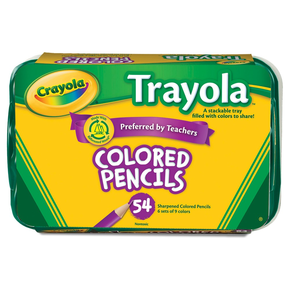 Crayola Trayola Colored Pencils With Tray 54ct In 2019 Art