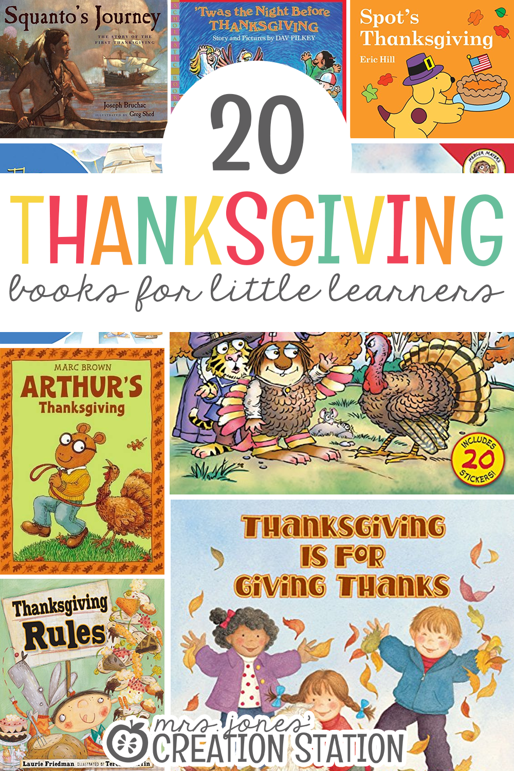 20 Thanksgiving Books For Little Learners Second Grade Learning