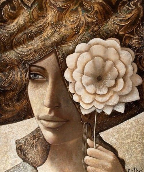 Muchacha con la flor Arunas Rutkus