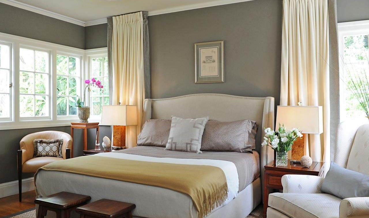Camera da letto con pareti grigio tortora | Idee per la casa ...