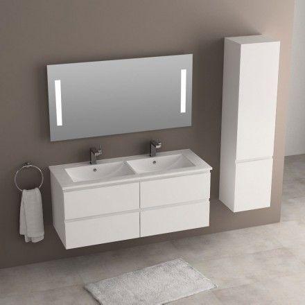 Composition de meuble salle de bains comprenant un meuble suspendu