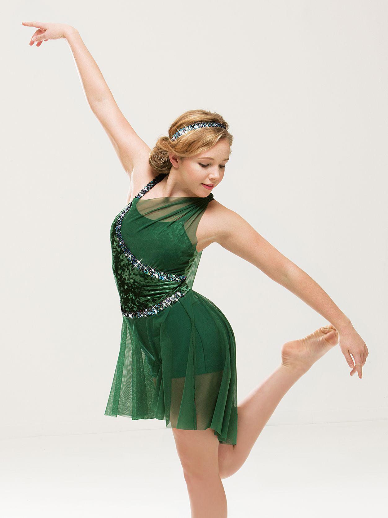 Evergreen dance dresses dance outfits modern dance costume