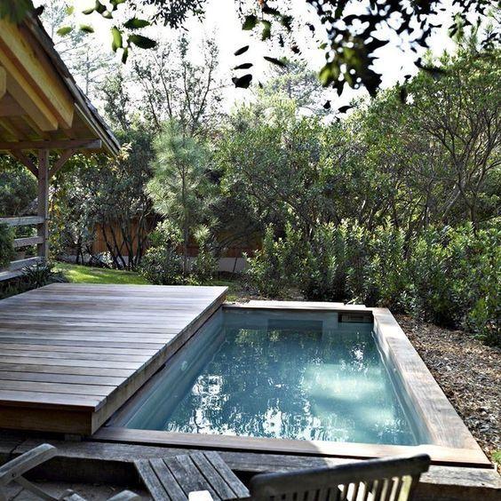 C mo construir una cubierta m vil para la piscina for Pileta jardin pequeno