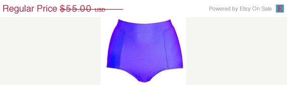 ON SALE Purple high waisted BOTTOM swimsuit by ANNAKSHOP on Etsy, $33.00