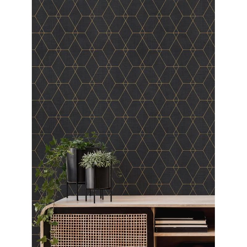 Stimsone Hexagon Art Deco Paintable Peel And Stick Wallpaper Panel In 2021 Wallpaper Panels Peel And Stick Wallpaper Wallpaper