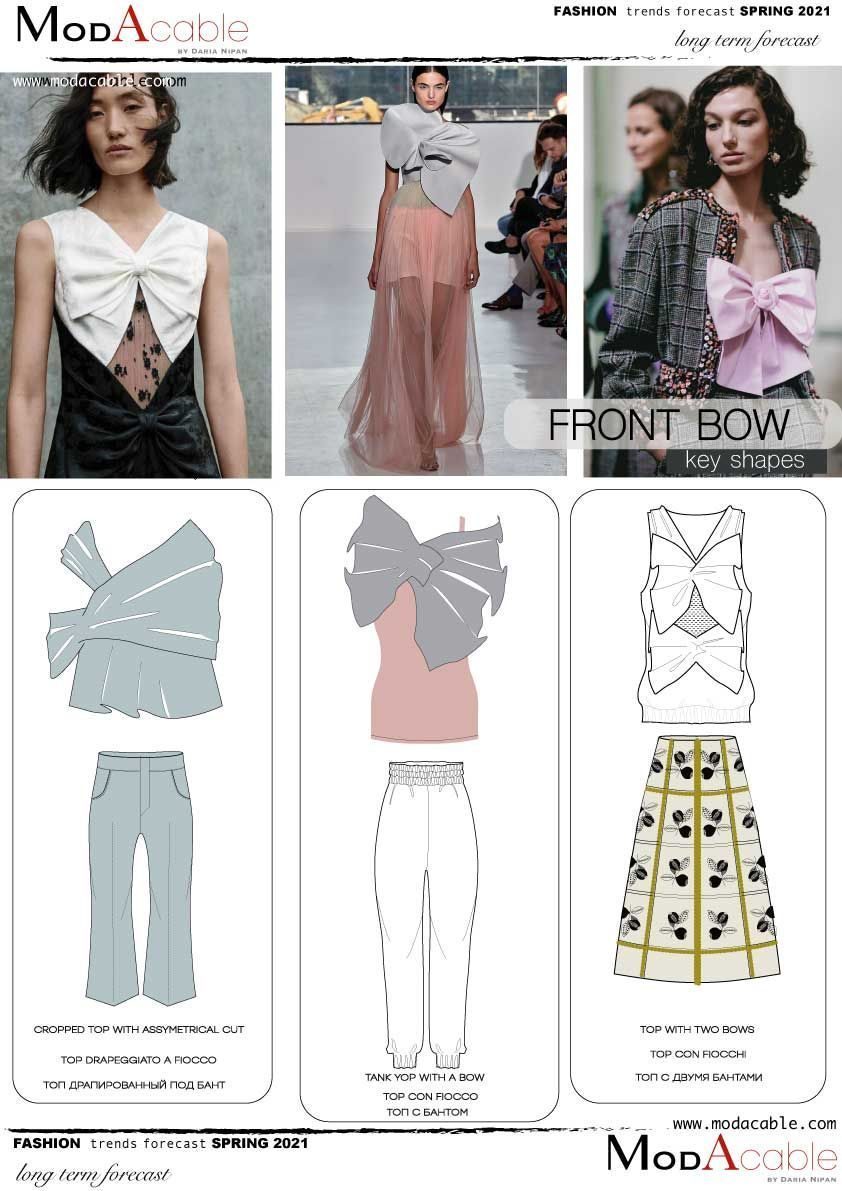Spring 4 trend Front Bow  Fashion trend forecast, Spring