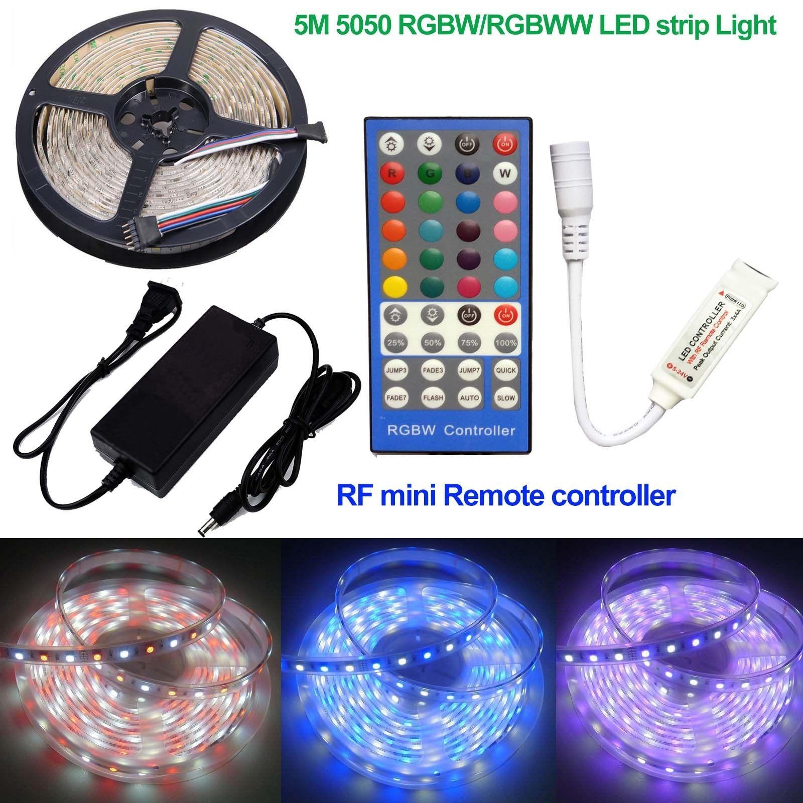 $5 9 5M 16 4Ft Smd 5050 Rgbw String Rgbww Led Strip Lights 12V Rf