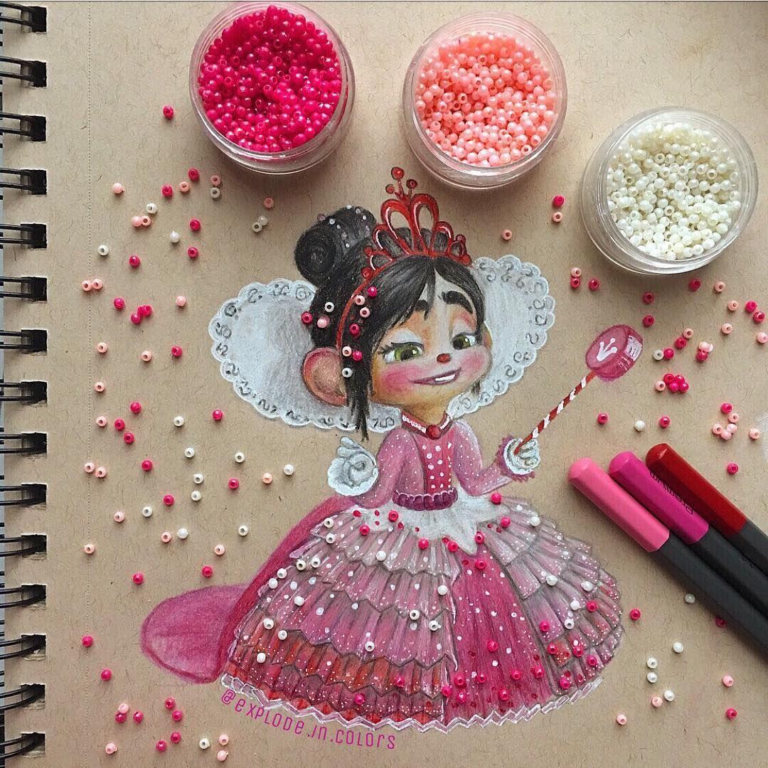 """Delia� on Instagram: """"happy Valentine's Day from princess Vanellope von Schweetz!�"""""""