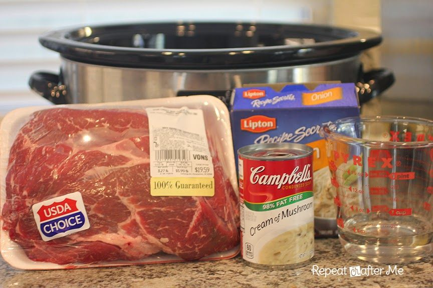 Crock Pot Easy Pot Roast - Repeat Crafter Me