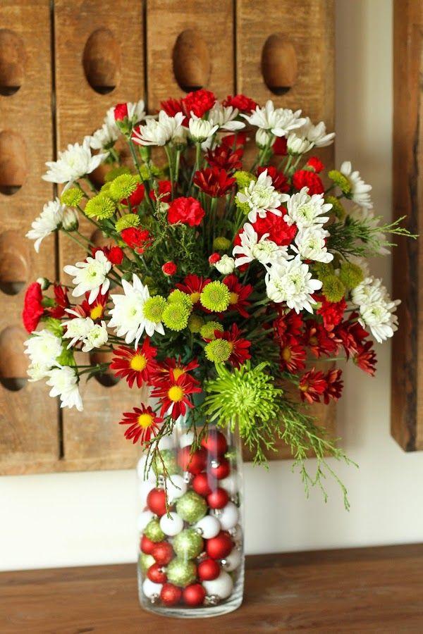 Hace 8 meses lindos arreglos florales como hacer - Como hacer centros navidenos ...