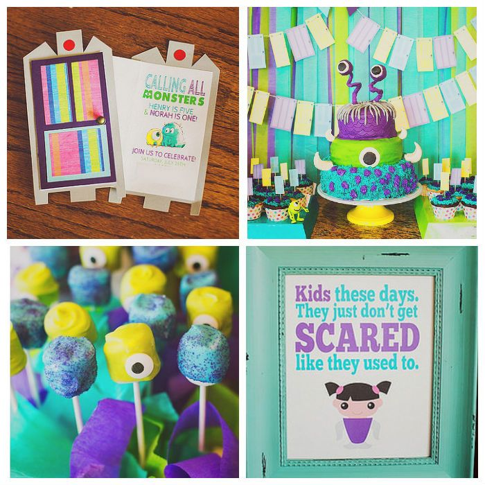 Monsters inc birthday party themed birthday parties monsters and monsters inc themed birthday party wow filmwisefo