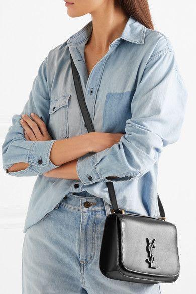 88dceaac91e SAINT LAURENT - Spontini leather shoulder bag in 2019   BAGS   Bags ...