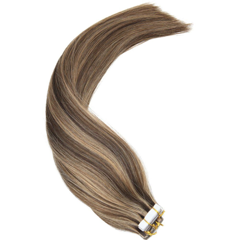 Youngsee 22 Two Tone Tape In Human Hair Extensions 20pc 50g Dark