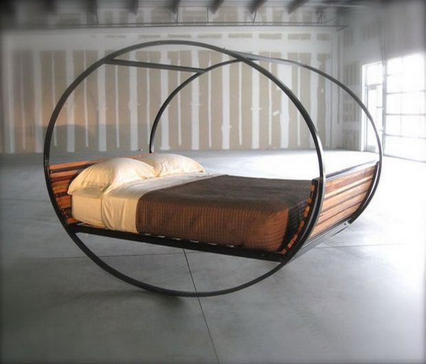 unique bed with a frame round creative Favorite Spaces