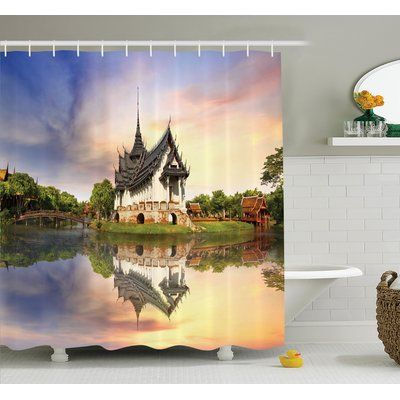 Ambesonne Medieval House Shower Curtain Set Size 84 H X 69 W 1 D