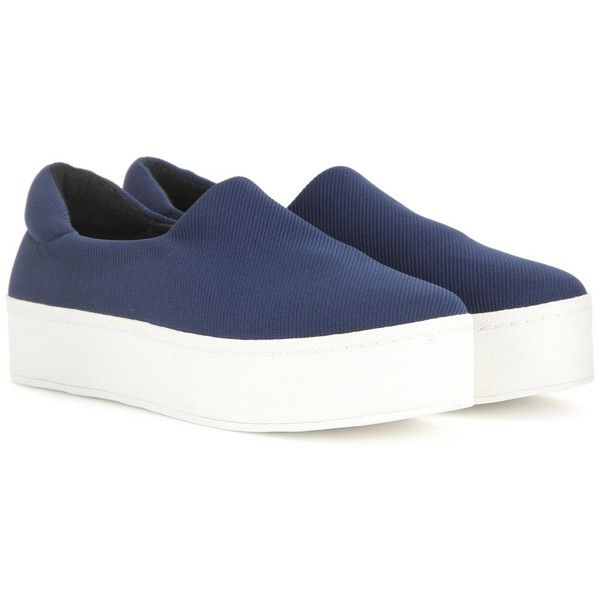 f2c9ef8a3d93 Opening Ceremony Platform Slip-on Sneakers ( 180) ❤ liked on Polyvore  featuring shoes
