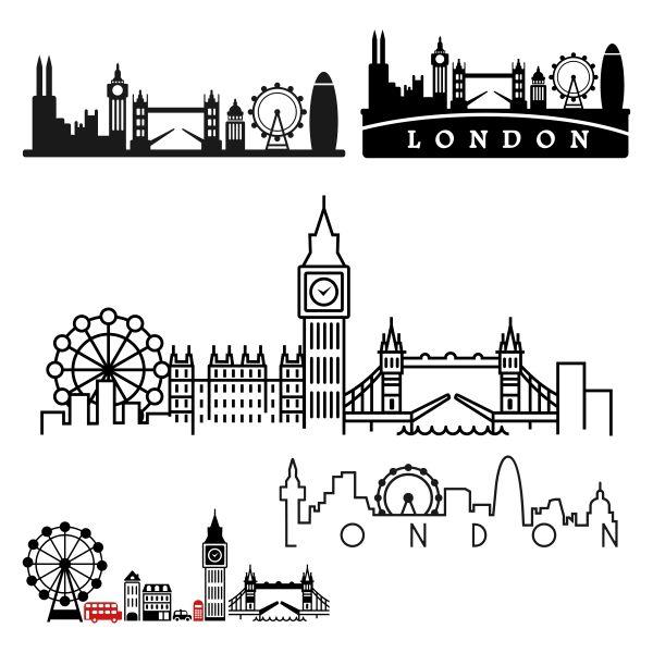 London Pack SVG Cuttable Designs