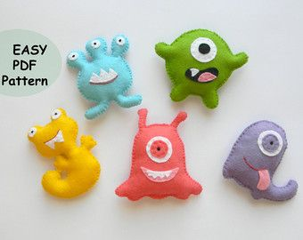 Monster Template  Etsy  Sewing    Monsters