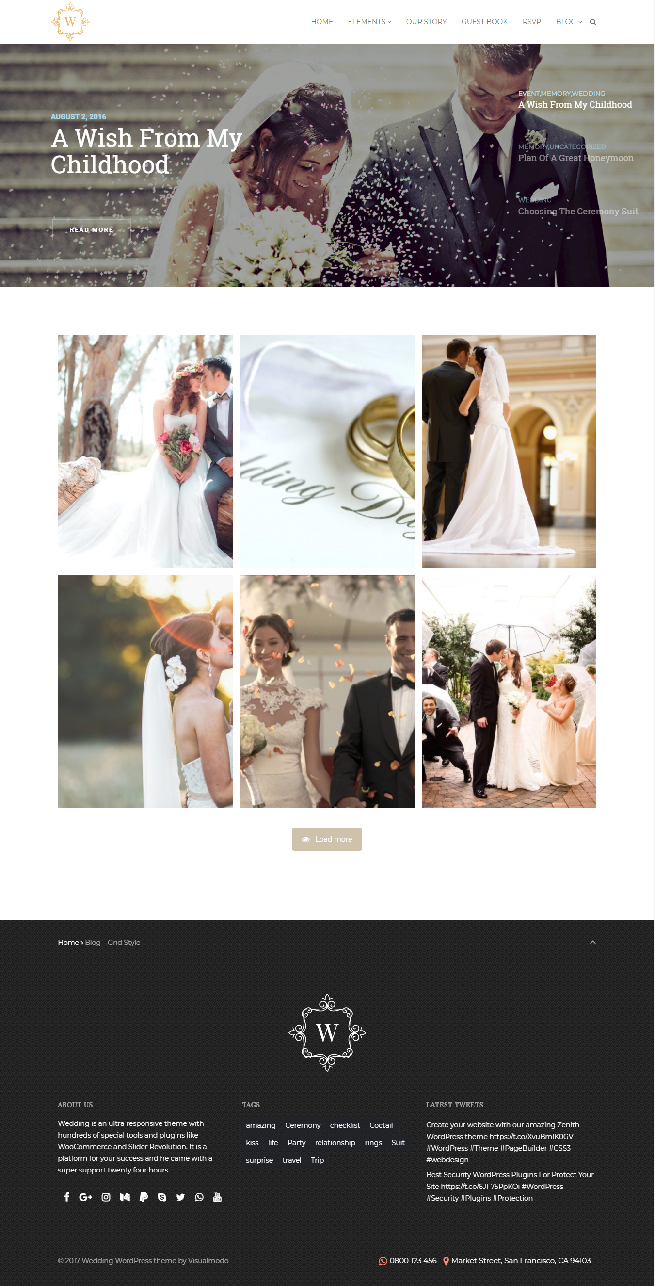 Wedding WordPress theme - Smart responsive events and celebration ...