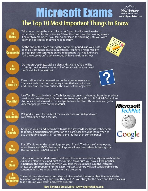 Microsoft Exams The Top 10 Most Important Things To Know