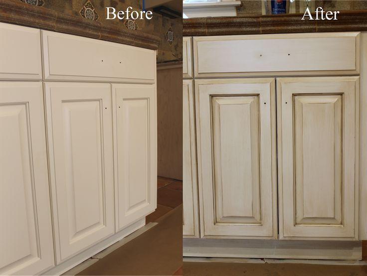 how to paint and glaze kitchen cabinets kitchen cabinets kitchen rh pinterest com