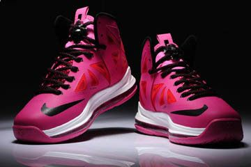 5a5caeb118b7 Women Pink and Black Nike Lebron 10 Basketball Shoes   foot wear in ...