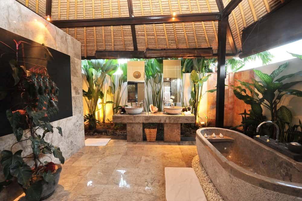 50 Tropical Style Primary Bathroom Ideas Photos In 2020 Bathroom Design Bathroom Design Luxury Tropical Bathroom