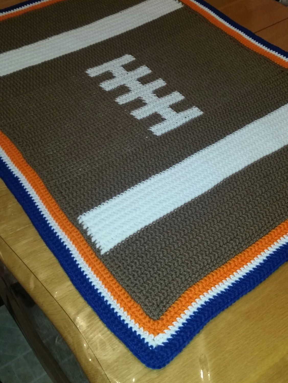 Crochet Football Blanket Or Rug By Cutecrochetcottage On