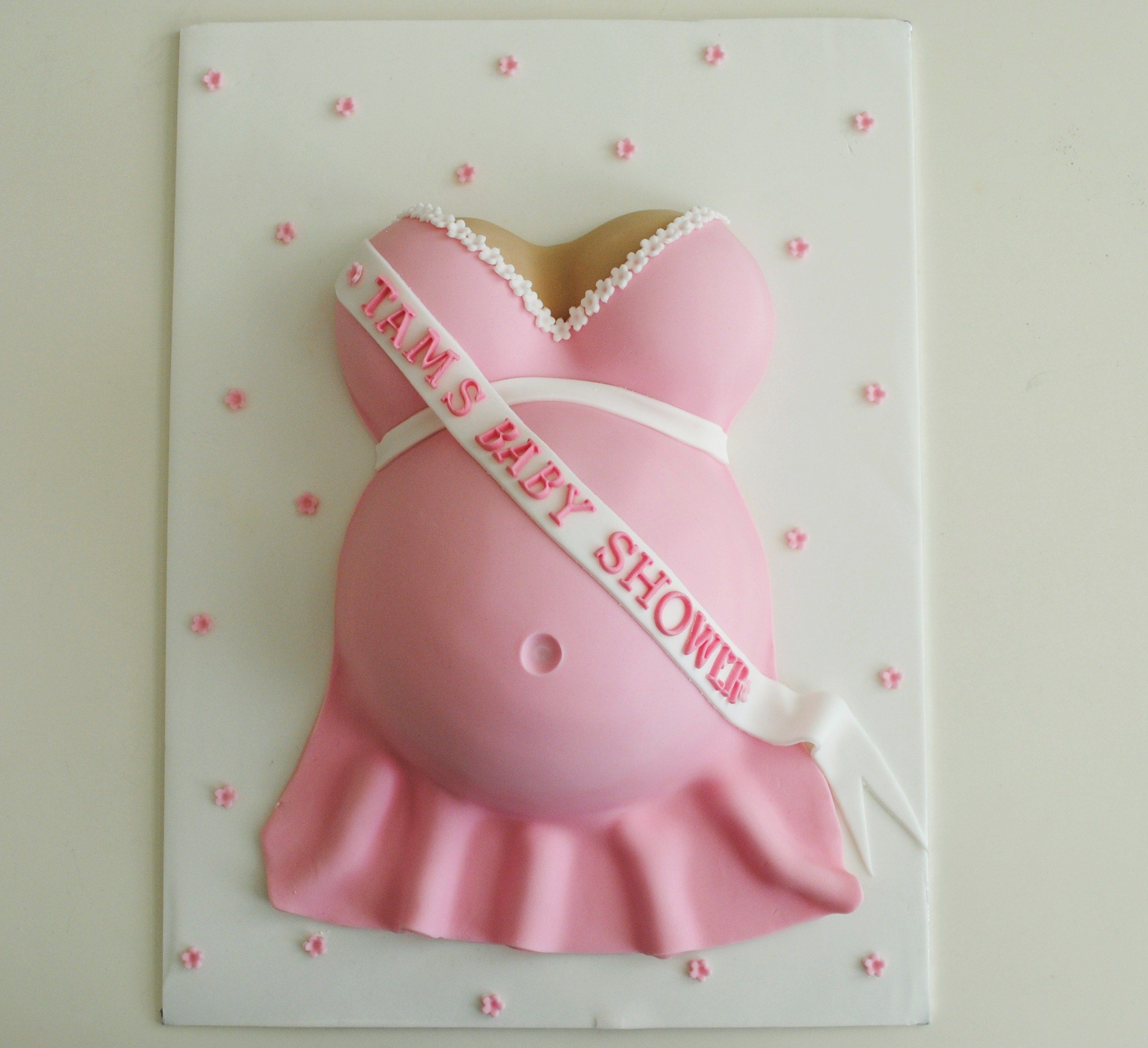 Baby Bump Cake Images : Miss Cupcakes  Blog Archive   Blue Baby bump baby shower ...
