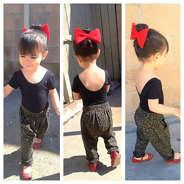 Goal: to keep my kids dressed adorably and fashionably but not too grown or to the point they won't be able to play comfortably.