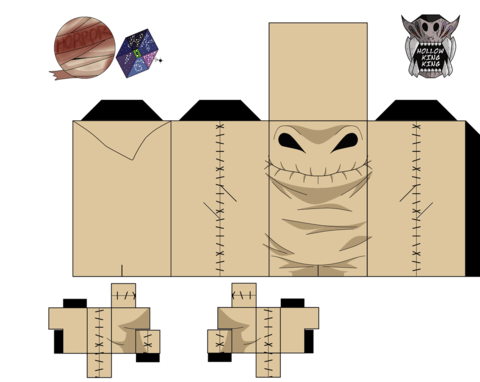 Oogie Boogie From The Nightmare Before Christmas Paper Toy