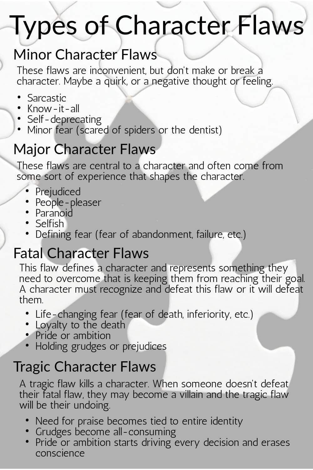 Types of Character Flaws