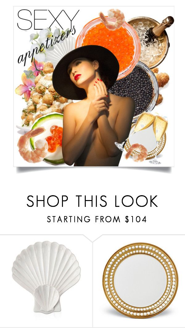 """Sexy Appetizers"" by capricat ❤ liked on Polyvore featuring interior, interiors, interior design, home, home decor, interior decorating, Juliska and L'Objet"