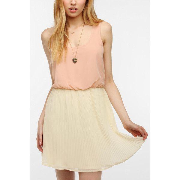 Pins And Needles Chiffon Pleated Skirt Dress