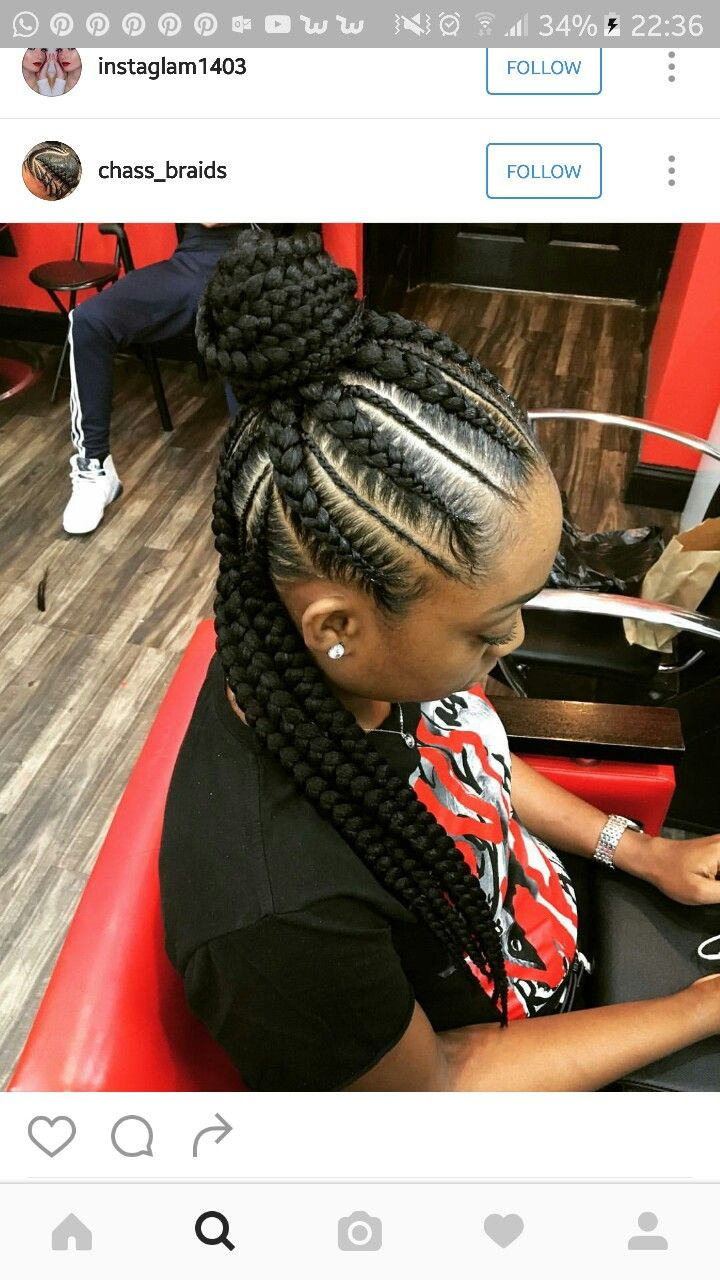 Feed In Half Up Half Down Natural Hair Style Braids Pinterest