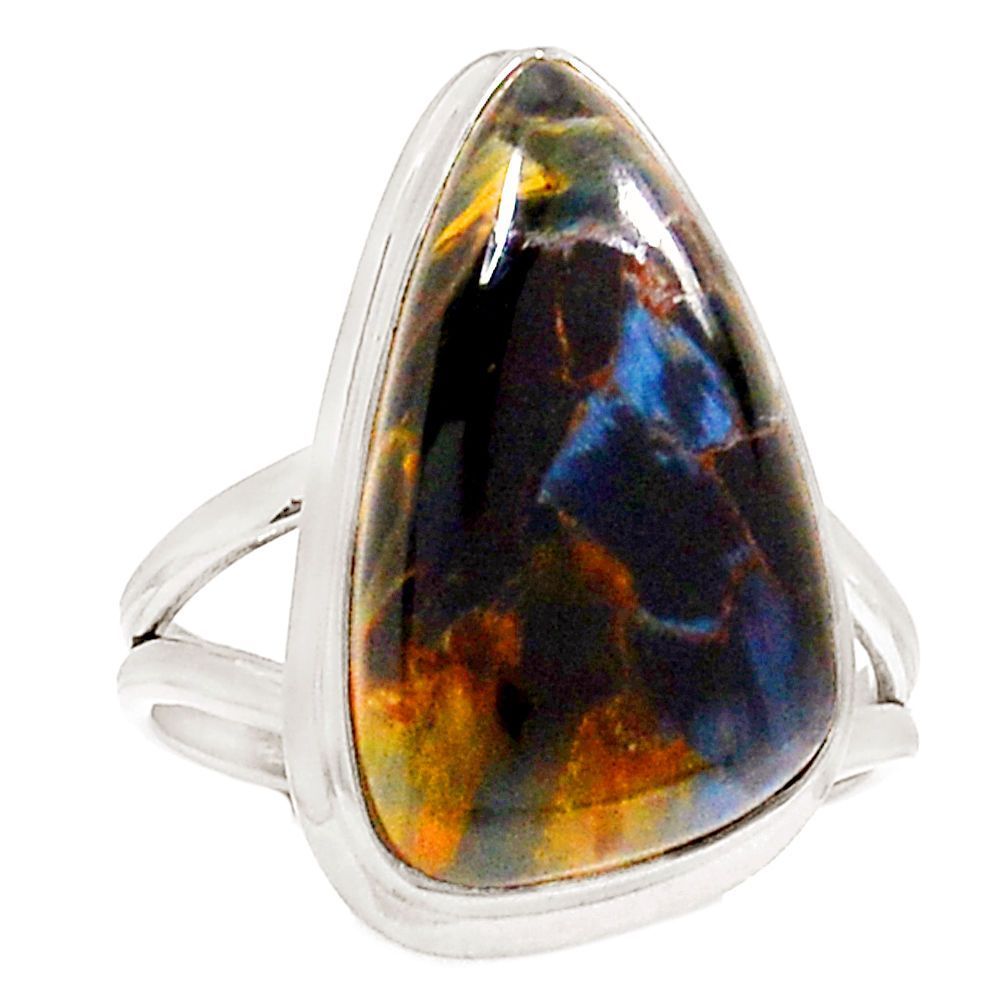 size sterling rings pietersite ring natural silver itm