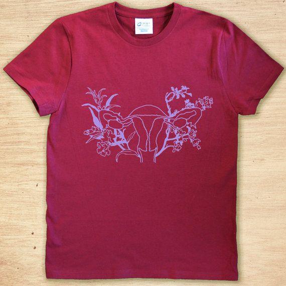 Feminist Shirt: Floral Uterus, Reproductive Justice Tee, CUSTOM Feminism Shirt, Feminist Tank, Love What You Doula, size S-3XL