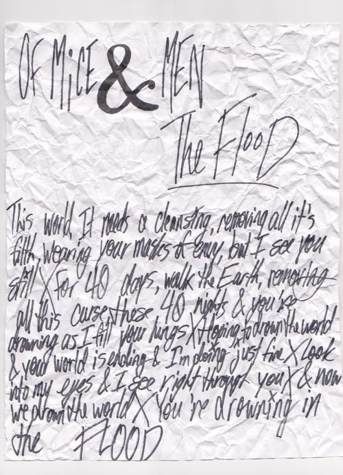 Of Mice and Men Lyrics | ... Typography lyrics of mice and men sharpie of mice & men om The Flood