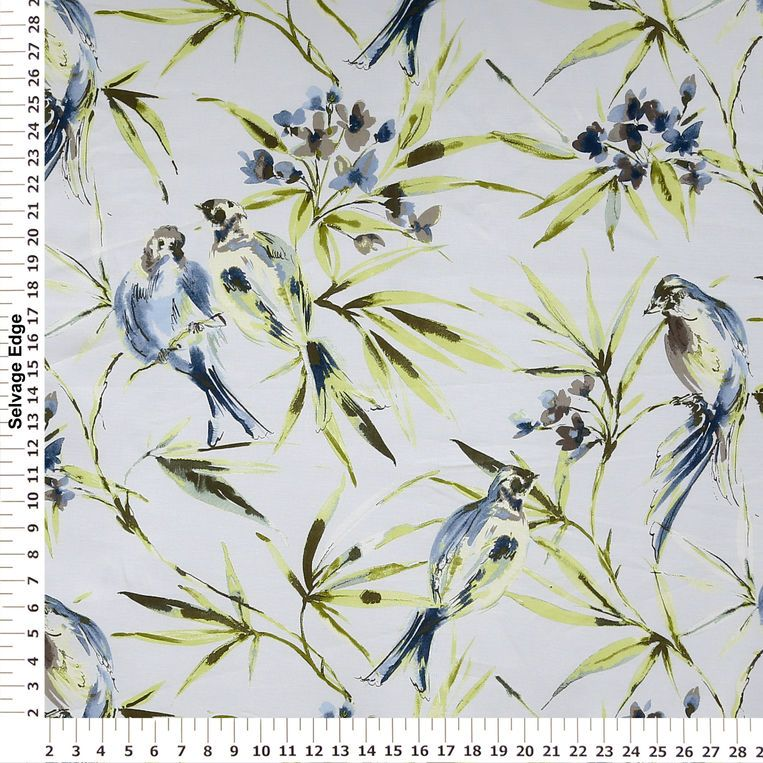 Blue Aviary Home Decor Fabric   Panel Coordinating Fabrics