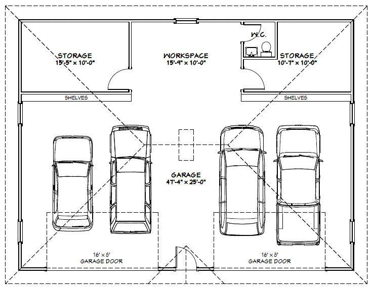 Mlwa12 Uploaded This Image To Garages X2f 48x36g1 See The Album On Photobucket Garage Plans Garage Dimensions Garage Floor Plans