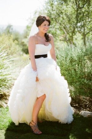 Wedding Dress Vera Gown Black Sash