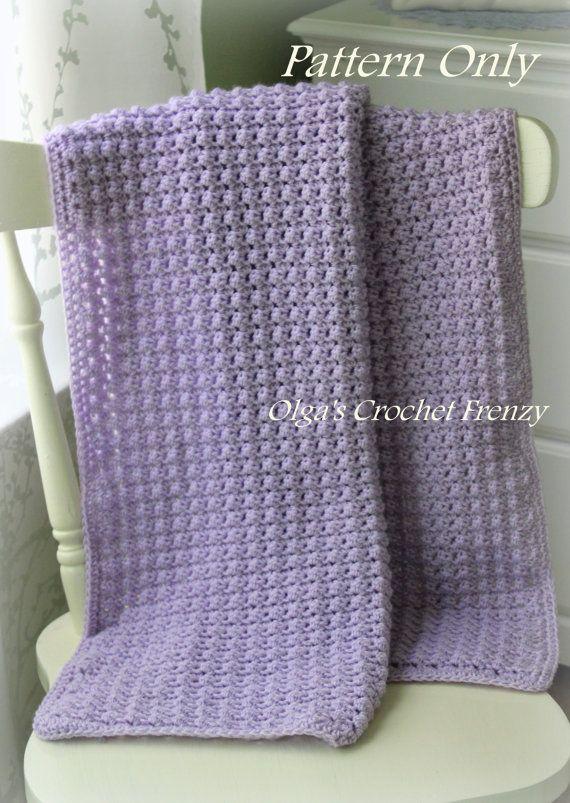 Crochet bebé manta patrón bebé afgano fácil por olgascrochetfrenzy ...