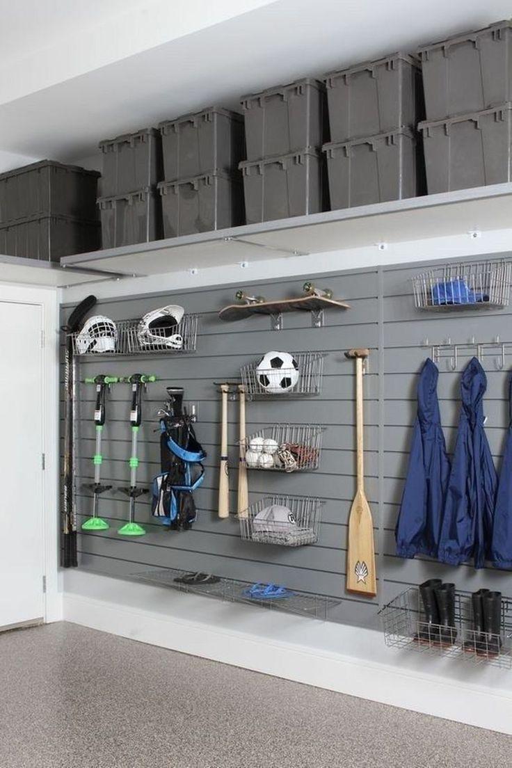 Popular Garage Organization Ideas - #2Car #Bikes #Bins #Detached #Garage #  Popu...#2car #bikes #bins #detached #garage #ideas #organization #popu #popular #detachedgarage