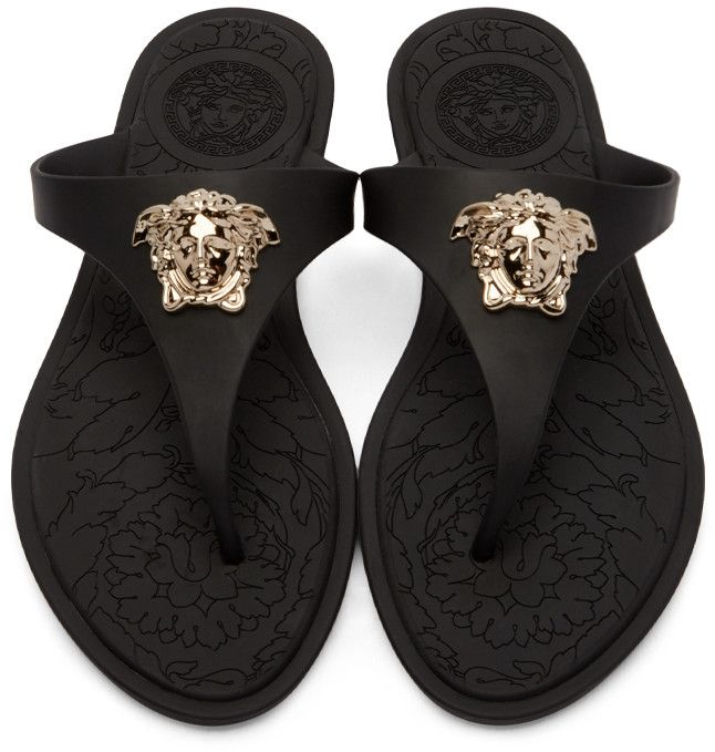 575909538e1 Versace - Black Medusa Sandals
