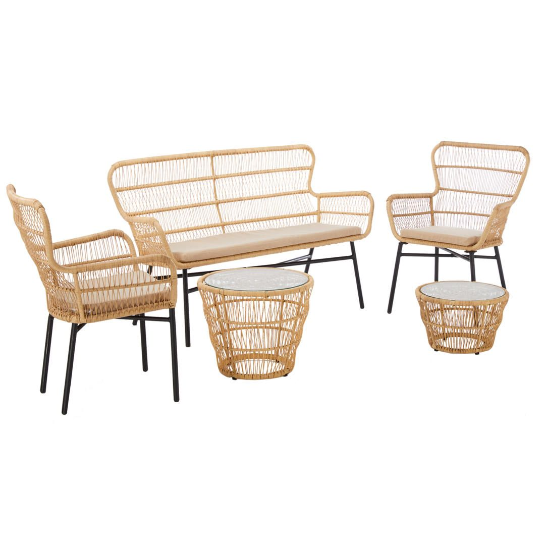 Oasis 4 Seater Garden Lounging Table And Chairs Set: John Lewis & Partners Cuba 4 Seater Garden Lounging Tables