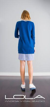 Camisola TWIN SET con doble vestibilidad. Frontal de punto o frontal camisero, como tú prefieras.  Dos prendas en una. El doble de elegante, el doble de bueno.