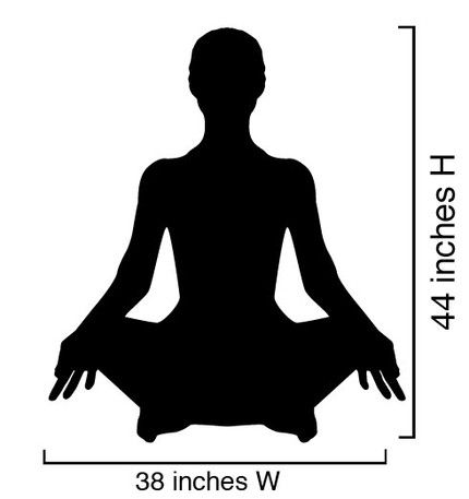 Vinyl Wall Decal Sticker Yoga Poses Silhouette 44x38