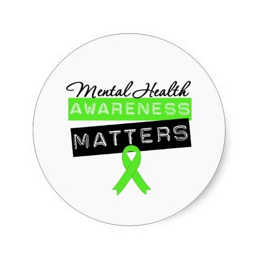 Mental health awareness matters round sticker